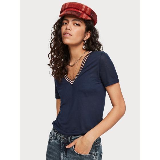 Scotch & soda short sleeved v-neck t-shirt 153804-1