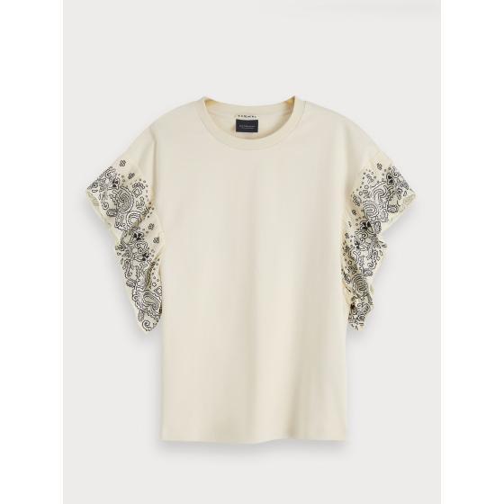 Scotch & soda ruffled sleeve t-shirt 154210-0