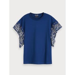 Scotch & soda ruffled sleeve t-shirt 154210