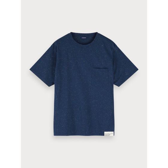 Scotch & soda nepped boxy fit t-shirt 155392-0219-0