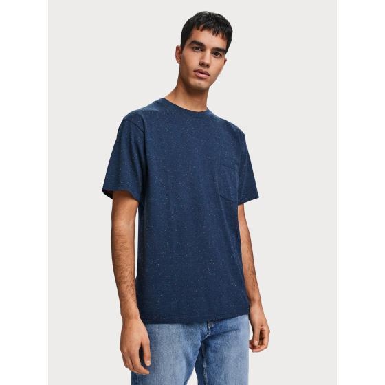 Scotch & soda nepped boxy fit t-shirt 155392-0219-1