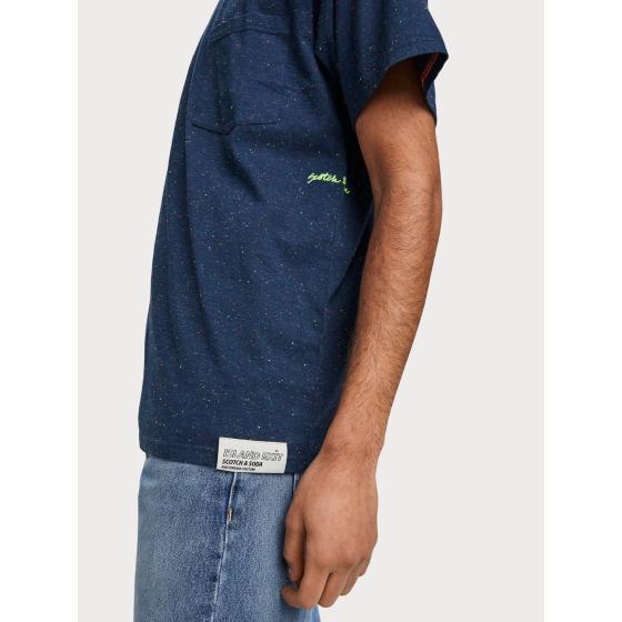 Scotch & soda nepped boxy fit t-shirt 155392-0219-2