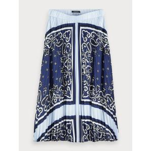 Scotch & soda pleated satin skirt 154554