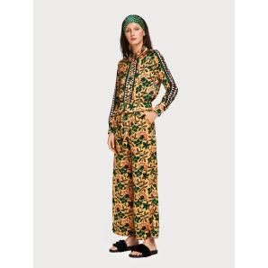 SCOTCH & SODA Printed Wide Leg Trousers 149910