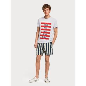 SCOTCH & SODA Preppy Stripe Swim Shorts 148549