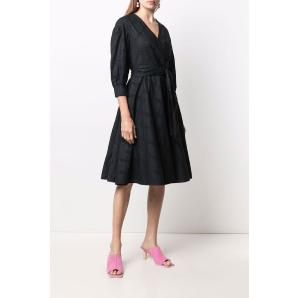 KARL LAGERFELD KARL LOGO WRAP SHIRT DRESS 215W1305