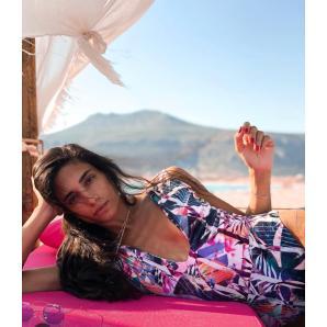 NADIA RAPTI Velvet Onepiece Swimsuit