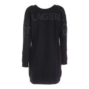 KARL LAGERFELD back v-neck logo sweatdress 206W1364