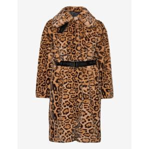 KARL LAGERFELD leopard faux fur coat 206W1509