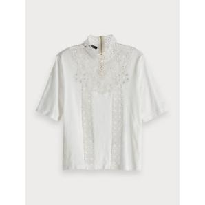 Scotch & soda high neck lace top 150713