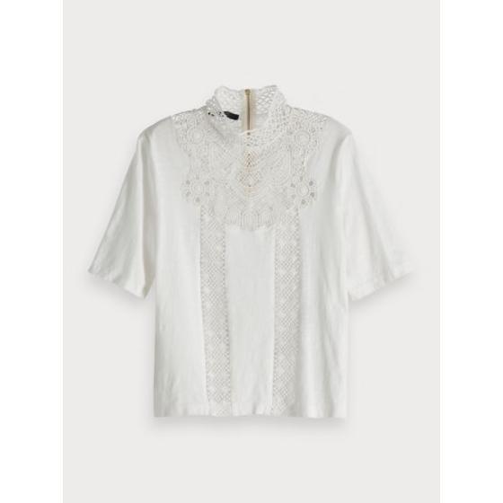 Scotch & soda high neck lace top 150713-0