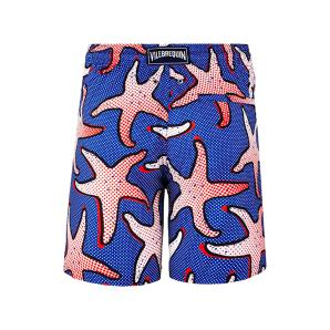 VILEBREQUIN MEN LIGHTWEIGHT AND PACKABLE SWIMTRUNKS STARFISH ART