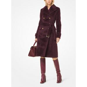 MICHAEL KORS Wool-Blend Belted Coat MF82HW576V