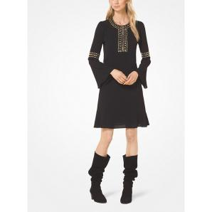 MICHAEL KORS Studded Crepe Dress MF88YAN4YP