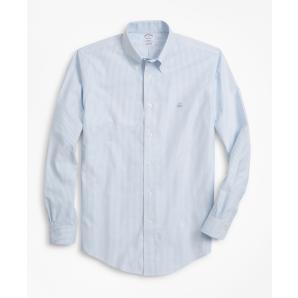 BROOKS BROTHERS Non-Iron Regent Fit Heathered Stripe Sport Shirt 00135541