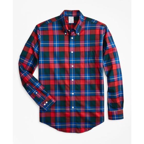 Brooks brothers non-iron regent fit kilgour tartan sport shirt 00142720-0