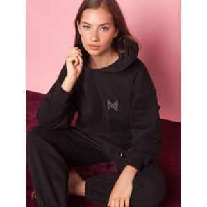 MALLORY THE LABEL What's the chill Black Hoodie
