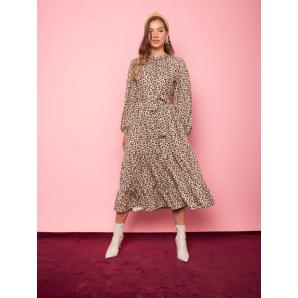 MALLORY THE LABEL desert rose animal print dress