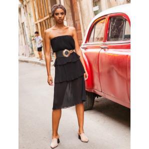 MALLORY THE LABEL guava dress