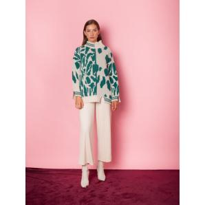MALLORY THE LABEL moon flower knit sweater