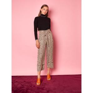 MALLORY THE LABEL marl brown pants