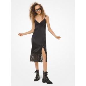 MICHAEL KORS Sateen and Sequined Lace Slip Dress MH98ZEVCFB