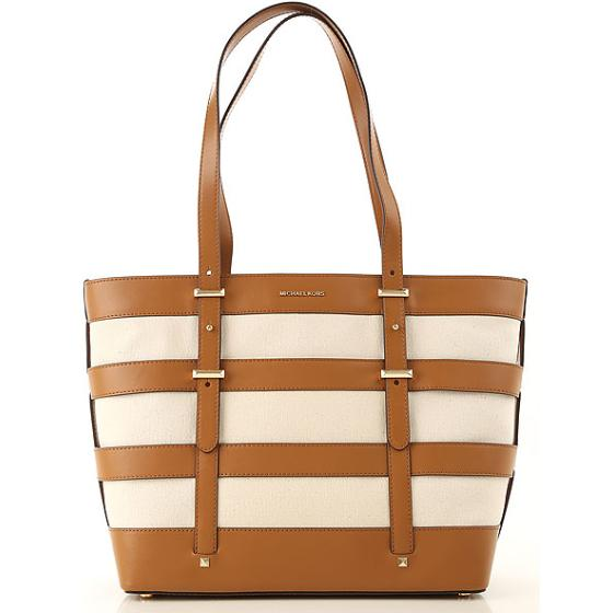 Michael Kors Marie Lg Cage Tote In Cotton 30S9GI8T9C-0