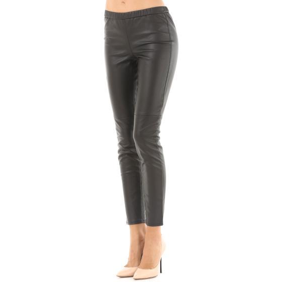 264edee796d8a4 MICHAEL KORS Black Faux Leather Leggings MB93GJX18E-0