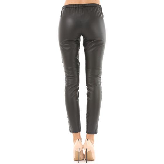 54fd6d2760a923 MICHAEL KORS Black Faux Leather Leggings MB93GJX18E