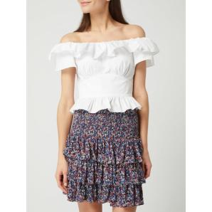 MICHAEL KORS white off shoulder ruffle top