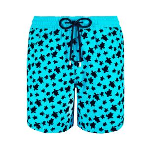 VILEBREQUIN MEN SWIMTRUNKS FLOCKED MICRO RONDE DES TORTUES