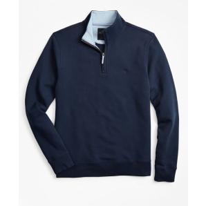Brooks brothers french terry half-zip 00145429