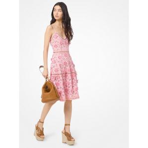 MICHAEL MICHAEL KORS Floral Appliqué Lace Dress MS98YSEB0Z