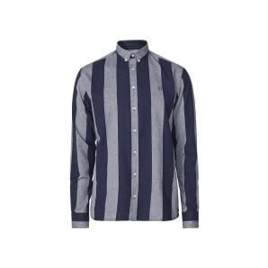 Les deux desert stripe shirt -snow mel./navy LDM410027