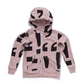 NUNUNU punctuation zip hoodie