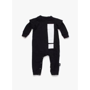 Nununu French Terry Exclamation Playsuit in Black - FINAL SALE