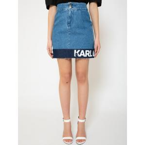 Karl Lagerfeld Logo denim skirt