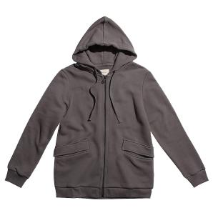 The project garments organic cotton-jersey hoodie moonrock grey PGFW196SC3043CO