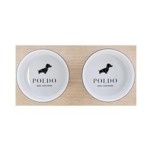 Poldo Dog Couture Double Bowls Set