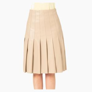KARL LAGERFELD FAUX LEATHER SKIRT 215W1205