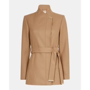 TED BAKER Short belted wool wrap coat 156059