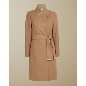 TED BAKER ELLGENC LONG BELTED WRAP COAT 156062