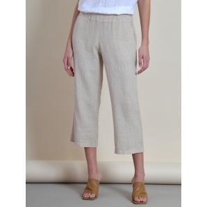 Black & Black Linen Pants