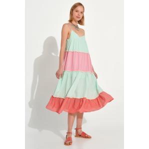 AUGUST kaftan dress S21A6061