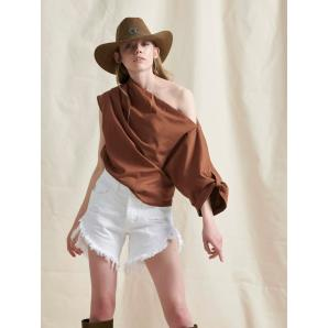 LIBELLOULA CHERYL TOP BROWN 121-2-23-0037