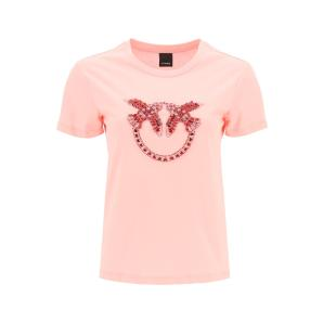 PINKO love birds embroidery t-shirt 1G1610 Y4LX