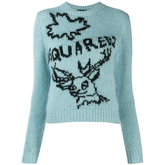 Dsquared2 embroidered sweater S75HA0880S16791-961-0