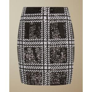 Ted baker check sequin mini skirt 158488