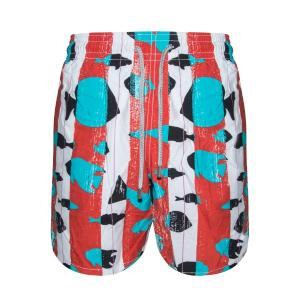 VILEBREQUIN Moorea Red Fish Pattern Swim Shorts