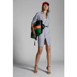 DSQUARED2 Striped Poplin Shirt Dress S75CV0406